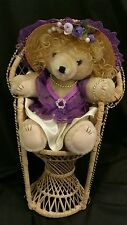 """12"""" Jointed Teddy Bear Lace & Satin Clothing Plush Stuffed Animal Collectible"""
