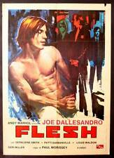 ANDY WARHOL'S FLESH Movie POSTER 27x40 Italian Joe Dallesandro Geraldine Smith