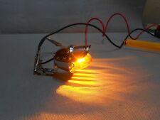 new bullet AMBER mini light with visor & mounting tab rocket for custom bike 12v