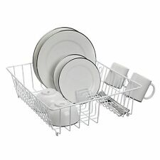 LTW DRAINER DISH DELUXE Steel Frame Poly Coated Finish, Space Efficient, WHITE