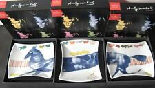 ROSENTHAL Andy Warhol  BLUE HORSE  3 Piece Serving Dish Set  NIB  RARE