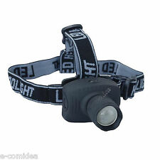TORCIA TATTICA FRONTALE HEAD LAMP LED CREE +ZOOM SOFT AIR / CACCIA / PESCA