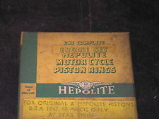 CLASSIC VINTAGE BSA A7 STAR TWIN 1947-1951 HEPOLITE PISTON RING SET NEW SIZES