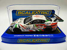"Scalextric ""McCafe"" Maserati Trofeo W/ Lights 1/32 Scale Slot Car C3388"
