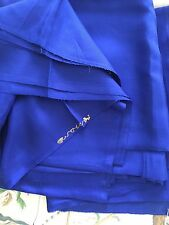 "vintage silk fabric Old Stock French Royal Blue 2 Yard 6 X 36"" never used"