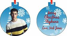 NEW Personalized Nick Jonas Ornament ( Add Any Message You Want)