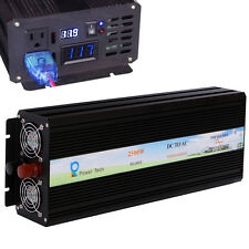 Pure Sine Wave Inverter 2500W Power Inverter 12V to 120V Off Grid LED Display