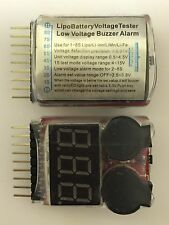 1S-8S RC Lipo Battery Low Voltage Alarm Buzzer Indicator Meter Checker Tester UK