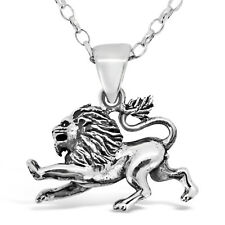 """Leo Sterling Silver Star Sign - The Lion Zodiac Pendant with 18"""" Chain & Box"""