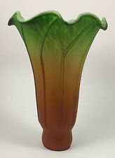 "Meyda Lighting 4.5""W X 6""H Amber/Green Pond Lily Lamp Light Shade"