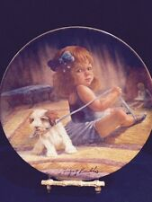 Ballerina's Dilemma Signed G.Perillo Limited Edition Collector's Plate W Dog