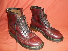 Vtg Dr Martens Airwair distressed Oxblood/ Black Leather Boots England Size 5