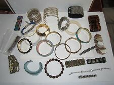 LOT OF 27 BRACELETS AND BANGLES & CUFFS - FASHION JEWELRY - SEE PICS