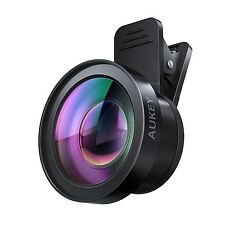 AUKEY Ora iPhone Lens 120 Wide Angle + 15x Macro Clip-on Cell Phone Camera Le...