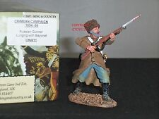 KING AND COUNTRY CRW11 RUSSIAN GUNNER LUNGING WITH BAYONET  TOY SOLDIER FIGURE