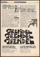 GRENDEL GRENDEL GRENDEL__Original 1981 Trade AD / poster__PETER USTINOV__Beowulf