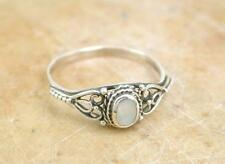 PRETTY STERLING SILVER MOTHER OF PEARL RING size 5  style# r1112