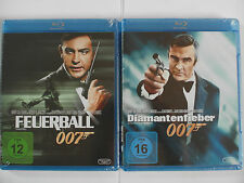 James Bond 007 Sean Connery Sammlung - Diamantenfieber + Feuerball, Thunderball