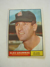 1961 Topps #64 Alex Grammas Baseball Card, Good Cond (GS2-b3)