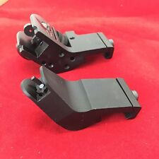 Front and Rear 45 Degree Offset Rapid Transition BUIS Backup Iron Sight