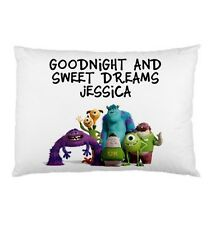 MONSTERS INC Personalized childrens kids bed pillow case