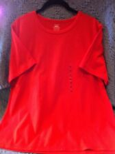 NEW JONES SPORT RED ROUNDED NECK 1/2 SLEEVE KNIT SHIRT SIZE 2XL