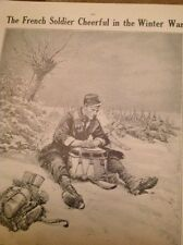 Ephemera 1914 French Soldier Writing Home Artist Ww1 M47