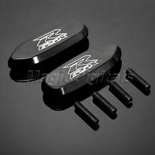 GSXR Logo Black Mirror Block Off Base Plates For Suzuki GSX-R 600 750 2006-2012