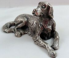 Irish Setter Dog Peltro Pewter Figurine Italy Paperweight Silver