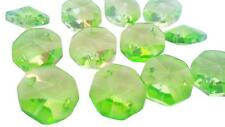 50 Spring Green Octagon Chandelier Crystal Beads Prisms Suncatcher Octagons