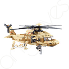 Army Air Force Black Hawk Rescue Helicopter Building Block Bricks Boys Set 439pc