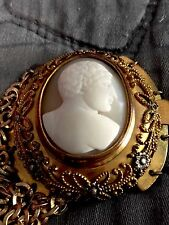 INDESCRIBABLY BEAUTIFUL ANTIQUE CAMEO BRACELET GERMANY WORLD WAR II