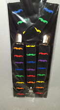 Braces Trousers Hold Ups Suspenders Fancy Dress  Gay Pride Tie Dye Rasta Ganja