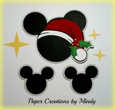 Craftecafe Mindy Disney Christmas Embellishment  premade paper piecing scrapbook