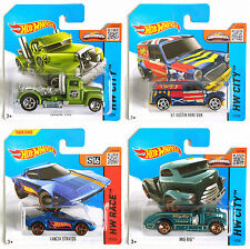 HOT WHEELS CARS COLLECTION OF FOUR BRAND NEW 2014 MODELS
