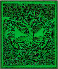 "CELTIC DRUID KNOTWORK TREE OF LIFE Huge Tapestry/Wall Hanging/Bedspread 84""X100"""