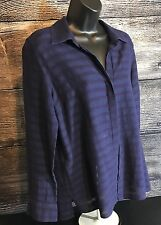 Women's Tommy Bahama Sheer Striped Top/Blouse w/tie up sleeves Sz. S/P