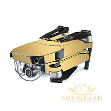 SopiGuard Brushed Gold Vinyl Skin Wrap Battery Controller for DJI Mavic Pro