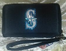 Seattle Mariners Bling Wristlet Cell Phone Wallet Rhinestone MLB Licensed!