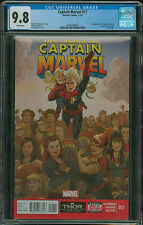 Captain Marvel #17 CGC 9.8 2nd appearance of Kamala Khan in cameo 2014