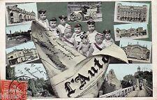 BL214 Carte Photo vintage card RPPC Enfant fantaisie journal L'auto bébé funny