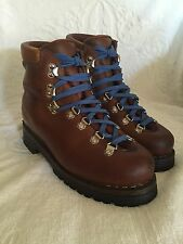 MENS VINTAGE TRAPPEUR OLD SCHOOL LEATHER HIKING BOOTS  SIZE 6.5 - MADE IN FRANCE