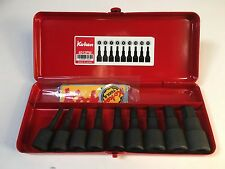 "Koken 1/2"" drive inhex Socket Set (9 piece), Metric x 60 mm long - Japan"