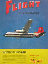 9/1963 PUB HANDLEY PAGE HERALD AIRCRAFT GLOBE AIR ZURICH ORIGINAL COVER AD