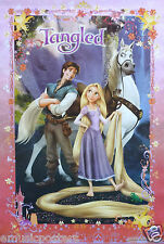 "DISNEY ""TANGLED"" MOVIE POSTER - Rapunzel, Flynn Rider, Maximus Standing Together"