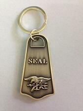 U.S. NAVY SEAL TEAM  Brass Plated Keychain Ring -The Only Easy Day Was Yesterday