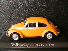 VOLKSWAGEN VW BEETLE 1300 1970 YELLOW RBA COLLECTABLES 1/43 YELLOW GELB COX