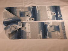 Polar Bears Blue and White Fleece Scarf