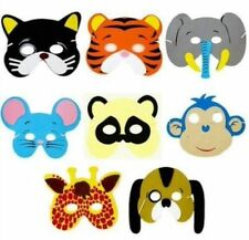36x Childrens Kids Foam Animal Masks Dressing up Party Bag fillers Jungle Party