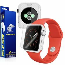 ArmorSuit MilitaryShield Apple Watch 38mm (ver.2) Screen Protector+White Carbon
